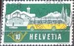Sellos de Europa - Suiza -  Scott#345 intercambio, 0,20 usd, 10 cents. 1953