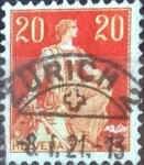 Stamps of the world : Switzerland :  Scott#132 intercambio, 1,00 usd, 20 cents. 1908