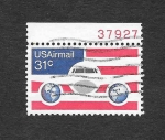 Stamps United States -  Avión