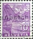 Sellos de Europa - Suiza -  Scott#221 intercambio, 0,20 usd, 10 cents. 1934