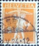 Stamps Switzerland -  Scott#158 intercambio, 0,20 usd, 5 cents. 1921