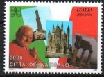 Stamps Vatican City -  VIAJE  DE  S.S.  JUAN  PABLO  II.  EN  ITALIA, FARO  EN  GÉNOVA, CATEDRAL  DE  ORVIETO, VALLE  DE  T