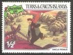 Sellos de America - Islas Turcas y Caicos -  545 - Navidad, Uncle Remus de Walt Disney, Oso a la busqueda del conejo
