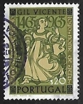 Sellos de Europa - Portugal -  Figures from Gil Vincente's Theatre Plays