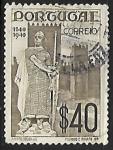 Stamps Portugal -  Estatua del Rey  Alfonso Henriques (c. 1110-1185)