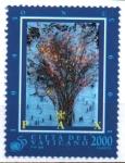 Stamps : Europe : Vatican_City :  EXPLOSIÓ  DE  COLORES,  PERSONAS.  PINTURA  DE  PAOLO  GUIOTTO.