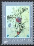 Stamps : Europe : Vatican_City :  LINFA  LLEGANDO  A  LAS  RAMAS  MÁS  PEQUEÑAS,  PINTURA  DE  PAOLO  GUIOTTO.