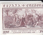 Stamps : Europe : Spain :  PRIMER DESEMBARCO DE COLON (32)