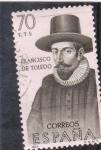 Sellos de Europa - España -  FRANCISCO DE TOLEDO (32)