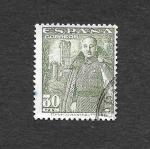 Stamps Spain -  Francisco Franco Bahamonde