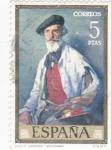 Stamps Spain -  RETRATO DE PABLO URANGA- ZULOAGA (32)