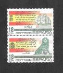 Sellos del Mundo : Europa : España : HB Edif 2791-2792 II Centenario de la Bandera Española