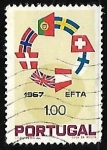 Sellos de Europa - Portugal -  Anillo de banderas