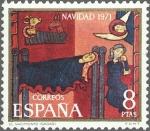 Stamps Spain -  ESPAÑA 1971 2062 Sello Nuevo Navidad Saint Andreu de Sagars