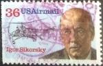 Stamps United States -  Scott#C119 intercambio, 0,25 usd, 36 cents. 1988
