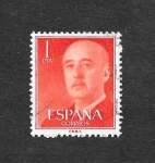 Stamps : Europe : Spain :  Edf 1153 - Francisco Franco Bahamonde