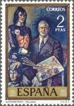 Stamps Spain -  ESPAÑA 1972 2078 Sello Nuevo Pintor Solana Autorretrato