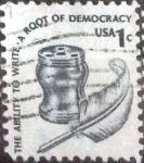 sellos de America - Estados Unidos -  Scott#1581 intercambio, 0,20 usd, 1 cents. 1977