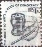Stamps United States -  Scott#1581 intercambio, 0,20 usd, 1 cents. 1977