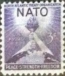 Stamps United States -  Scott#1008 intercambio, 0,20 usd, 3 cents. 1952