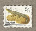 Sellos del Mundo : Africa : Sudáfrica : Lagarto cordylus giganteus