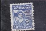 Stamps Ecuador -  TIMBRE PATRIÓTICO Y SANITARIO