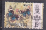 Sellos de Asia - Malasia -  FLORES Y MARIPOSAS
