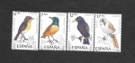 Stamps : Europe : Spain :  Edifil 2820 a 2823 - Pájaros