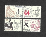 Stamps : Europe : Spain :  Edifil 2806 a 2809 - Personajes