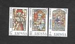 Stamps Spain -  Edf 2815-2817 - Vidrieras Artísticas