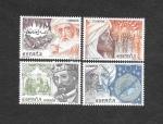 Stamps : Europe : Spain :  Edifil 2869 a 2872 - Patrimonio Cultural Hispano Islamico