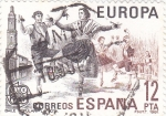 Stamps : Europe : Spain :  EUROPA CEPT. BAILE POPULAR- LA JOTA (33)
