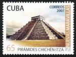 sellos de America - Cuba -  MEXICO - Ciudad prehispánica de Chichén-Itzá