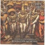Stamps : America : Mexico :  Mural Revolucionarios por David Alfaro Siqueiros