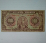 monedas de America - Colombia -  1953 - 100 pesos