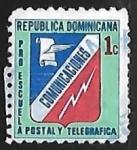 Sellos de America - Rep Dominicana -  Emblema de la oficina de correos y telegrafos
