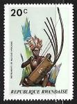 Sellos de Africa - Rwanda -  Instrumentos musicales