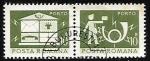 Stamps Romania -  Casillas de correo -  Cornetas de Correos