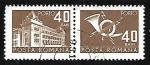 Sellos de Europa - Rumania -  Oficinas de Correos - Cornetas de Correos