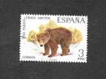 Stamps : Europe : Spain :  Edf 2038 - Oso Pardo