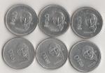 monedas del Mundo : America : México :  LOTE DE 6 MONEDAS DE $10.00 HIDALGO 1985-1990