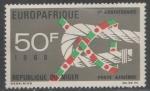 Stamps : Africa : Niger :  70 ANIVERSARIO DE LA COMUNIDAD ECONÓMICA EUROPEA Y LA UNIÓN DE AFRICA Y MALGACHE