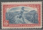 Stamps : America : Mexico :  MENSAJERO AZTECA (PAININI).