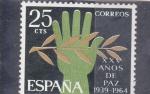 Stamps Spain -  XXV AÑOS DE PAZ (33)