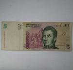 monedas de America - Argentina -  5 pesos
