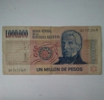 monedas de America - Argentina -  1.000.000 de pesos