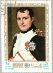 Sellos de Asia - Emiratos Árabes Unidos -  200 cumpleaños de Napoleón I Bonaparte; por pintores franceses, Manama