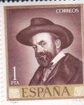 Stamps : Europe : Spain :  AUTORETRATO SERT (33)