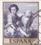 Stamps : Europe : Spain :  EL BUEN PASTOR- MURILLO (33)