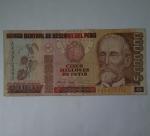 monedas de America - Perú -  1991 -5.000.000 de intis